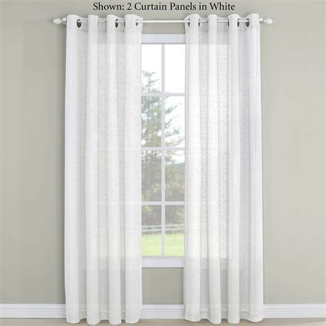 Semi Sheer Curtains Erin Semi Sheer Grommet Curtain Panel