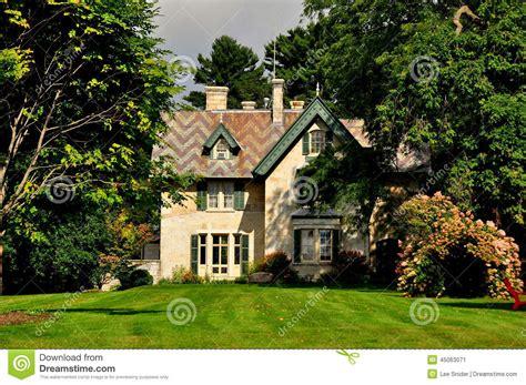 The Cottage Ma Stockbridge Ma Linwood Cottage Editorial Photo Image