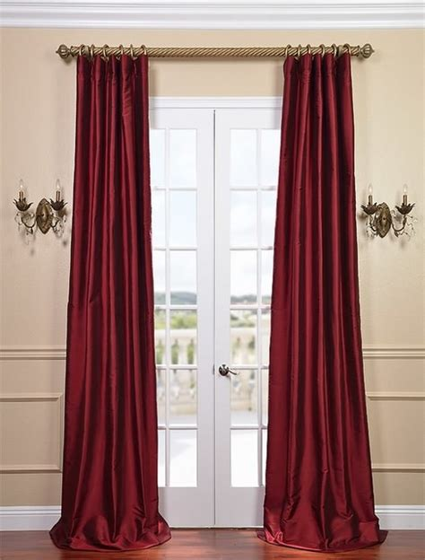 red silk drapes bold red thai silk curtains traditional curtains san