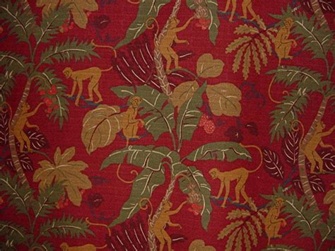 Monkey Upholstery Fabric by Drapery Upholstery Fabric 100 Cotton P Kaufmann Monkey
