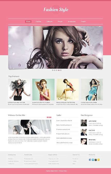 Template 40548 Fashion Brand Responsive Website Template Clothing Brand Website Template