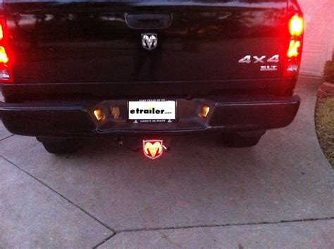 lighted hitch covers trucks ram led lighted trailer hitch cover 1 1 4 quot and 2
