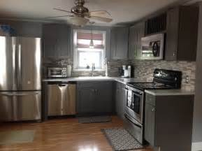 Grey shaker kitchen cabinets modern kitchen philadelphia by