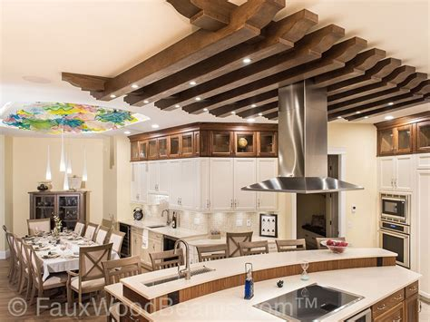 Diy Kitchen Island Ideas by Stunning Kitchen Ceiling Treatment Faux Wood Workshop