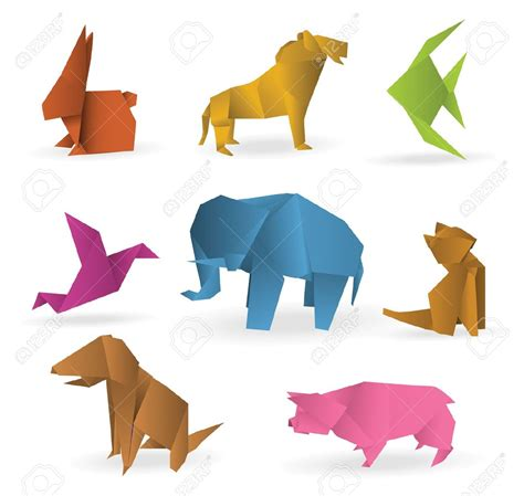 3d Origami Animals - origami origami animals royalty free cliparts vectors and