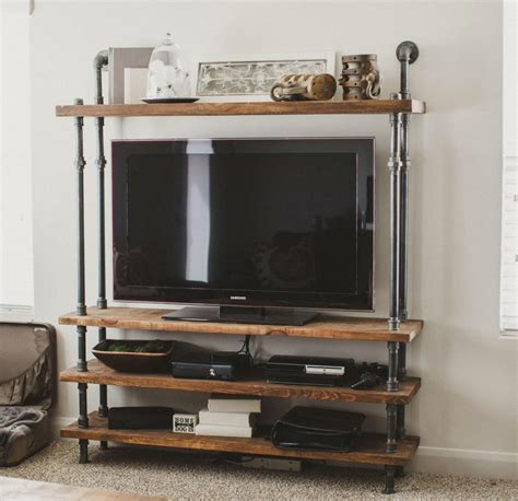 Diy Living Room Tv Stand Cool Diy Industrial Tv Stands Made From Wood And