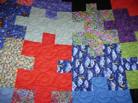 Jigsaw Quilt Pattern by Jigsaw Puzzle Quilt