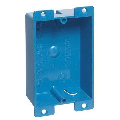 low profile light switch box 1 8 cu in flanged shallow work box b108r upc