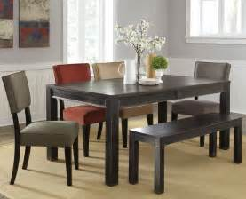 Bench Dining Room Table Set by Black Solid Wood Dining Set With Bench Lowest Price In