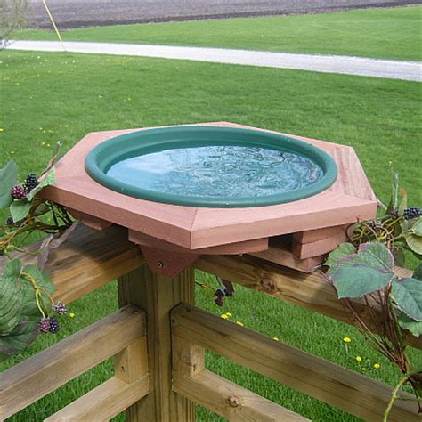 mini deck mount garden bird bath deck mounted birdbaths
