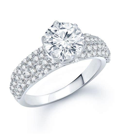 meenaz engagement rhodium plated cz ring buy meenaz
