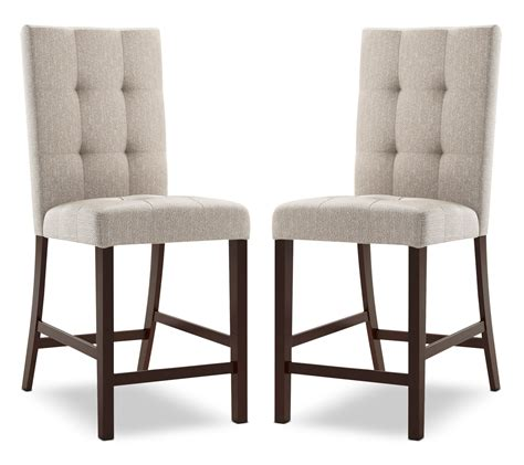 Dining Chairs Tufted Bistro Square Tufted Counter Height Dining Chair Set Of 2 Platinum United Furniture Warehouse