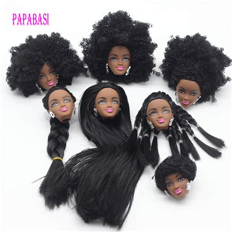 black doll heads for hairstyling 1pcs black doll hair for dolls as for fr dolls