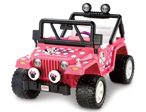 pink jeep power wheels fisher price power wheels disney minnie jeep wrangler ebay