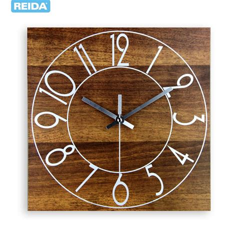 hot selling amazing fashionable creative wall clock new 2013 hot sale classic retro design wooden square