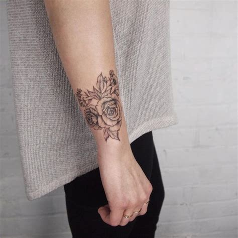 tattoo wrist wrap corsage wrist flowers tattoo people toronto jess chen