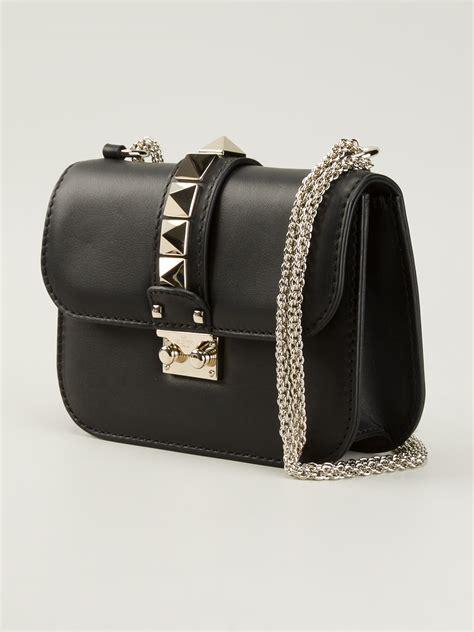 valentino rockstud mini shoulder bag in black lyst