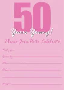 free printable 50th birthday invitations templates free printable 50th birthday invitation templates