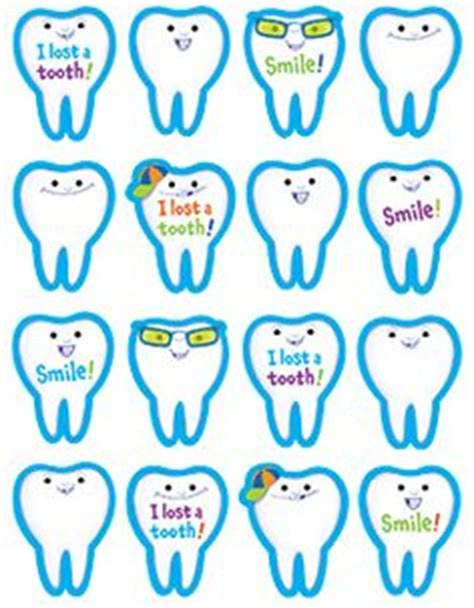 printable tooth stickers lost tooth on pinterest lost loose tooth and smart boards