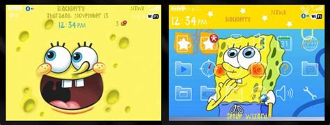 themes spongebob blackberry spongebob squarepants theme free blackberry themes download