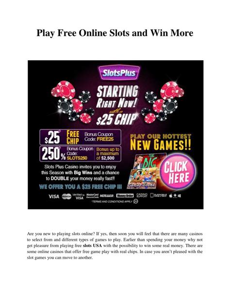 Play Slots Online For Free And Win Real Money - ppt play free online slots and win more powerpoint presentation id 7626821