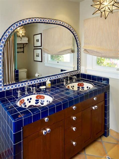 spanish tile bathroom ideas 88 best talavera tile bathroom ideas images on pinterest