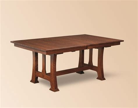 amish custer mission trestle dining table trestle tables
