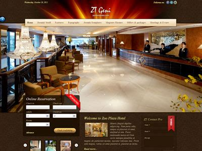 hotel template joomla zt geni joomla hotel reservation template