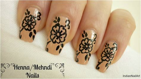 tutorial nail art pakai henna henna nail art design indiannailart youtube