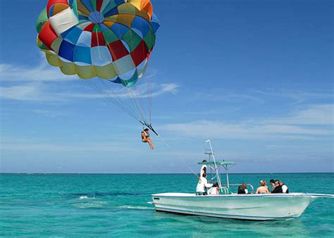 boat parachute paradise parasailing
