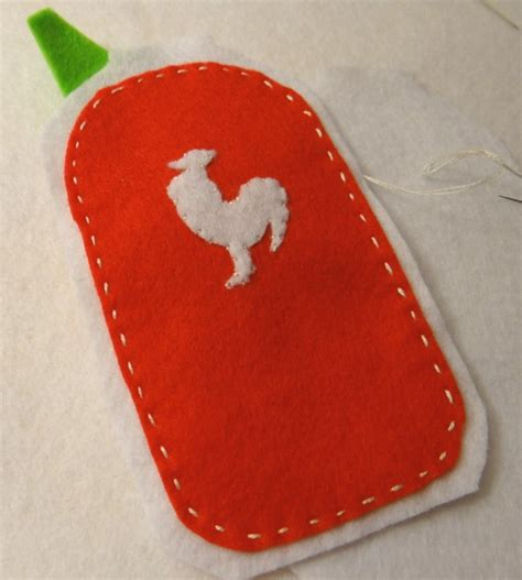 sriracha bottle outline everything is better with sriracha a free plush pattern