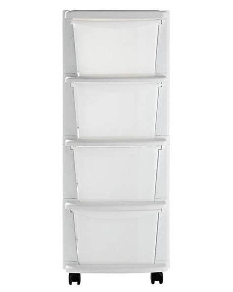 4 drawer plastic tower storage unit white keter 4 drawer plastic unit white j d williams