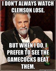 Clemson Football Memes - i love my gamecocks on pinterest gamecocks football