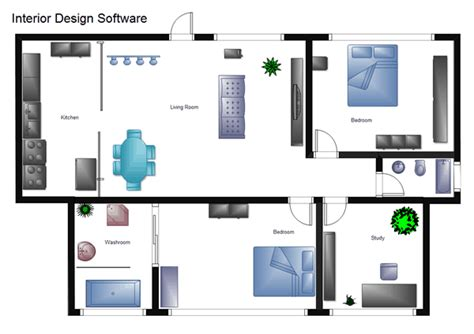 home interior plans house plan software edraw