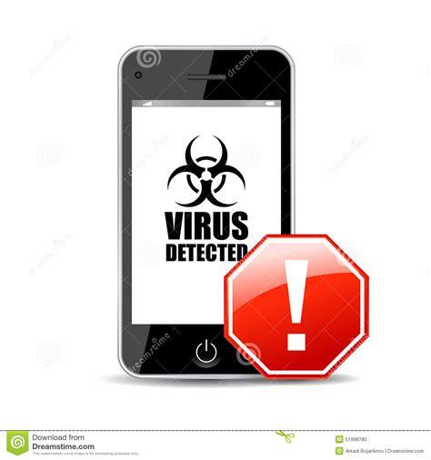 mobile virus mobile virus stock vector image 51998780