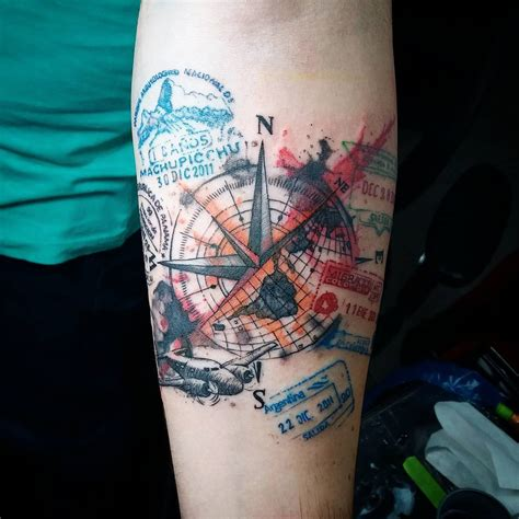 travel tattoo ideas 50 inspiring travel tattoos for travel addicts nomad