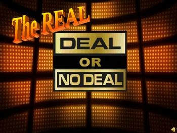 deal or no deal powerpoint template deal or no deal powerpoint show template by
