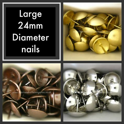 large upholstery nail heads large 24mm head upholstery nails furniture fabric studs
