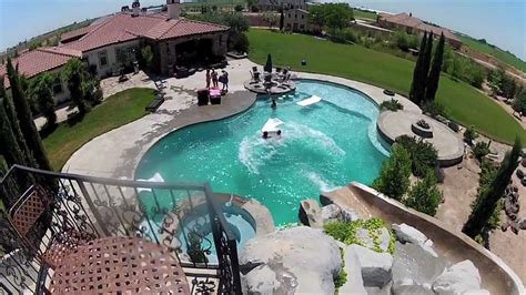 Awesome Backyard Pools Awesome Backyard Pool Slide Gopro Hd Hero2