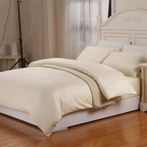 Warm Duvet Covers new king size 4pcs bedding warm yellow 100 cotton duvet