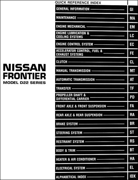 small engine service manuals 1998 nissan frontier auto manual wiring diagram for 1998 nissan frontier exhaust system 54 wiring diagram images wiring
