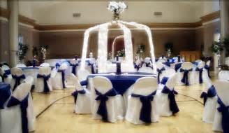 Blue And White Wedding Reception Decorations by Runaway Bridal Planner Wedding Decoration