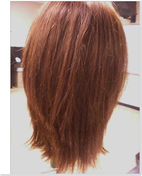 images front and back choppy med lengh hairstyles layered haircut back view dhairstyles