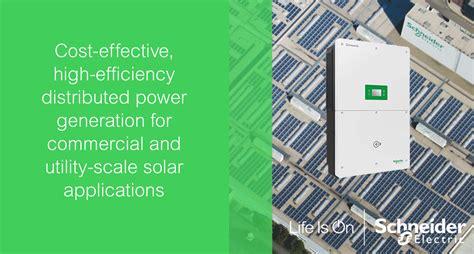 schneider electric solar l schneider electric solar inverters solutions