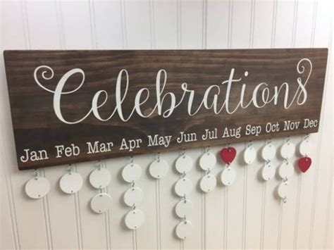 make family calendar wooden family calendar birthday wall hanging tutorial