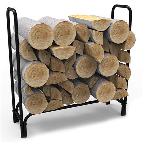 Firewood Log Racks by 4 Foot Black Shelter Firewood Log Rack
