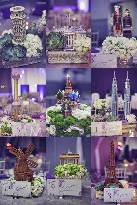 travel themed wedding decorations centerpieces travel theme around the