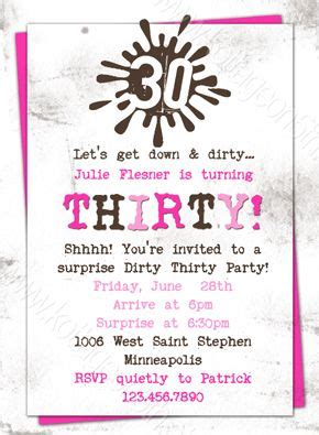 thirty birthday invitation wording 44 best images about 30th ideas on
