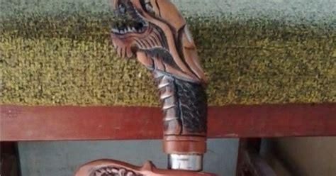 Pisau Tongkat Ukir Wayang Jbld2226 golok naga type 01 kode js 29 jawara sae etnic