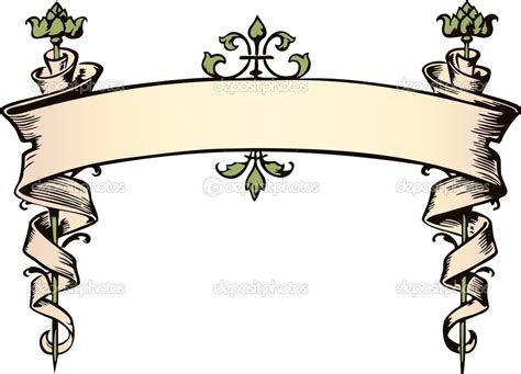 printable banner scroll 17 victorian vector banners images free vector victorian